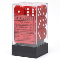 Chessex: D6 Opaque Cube Set (16mm) - Red/White image