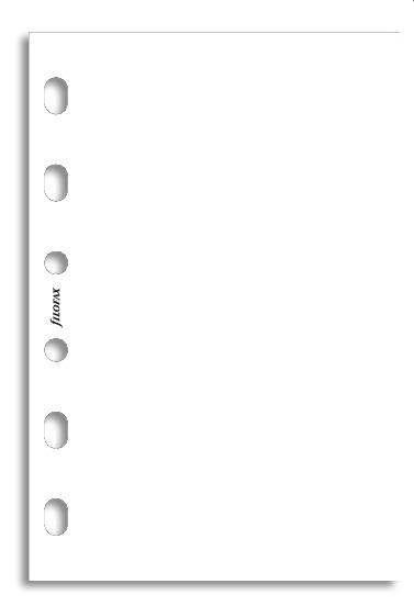 Filofax - Pocket Plain Notepaper - White (30 Sheets)