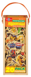 Construction Vehicles Wooden Magnets 20 Piece Magnafun Set
