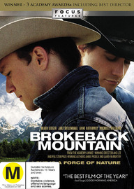 Brokeback Mountain on DVD image