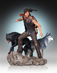 "The Walking Dead: 1/8 Daryl & The Wolves - 20"" Statue"