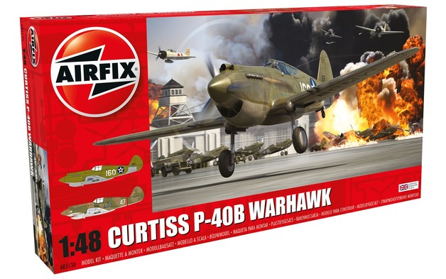Airfix 1:48 Curtiss P-40B Warhawk - Model Kit