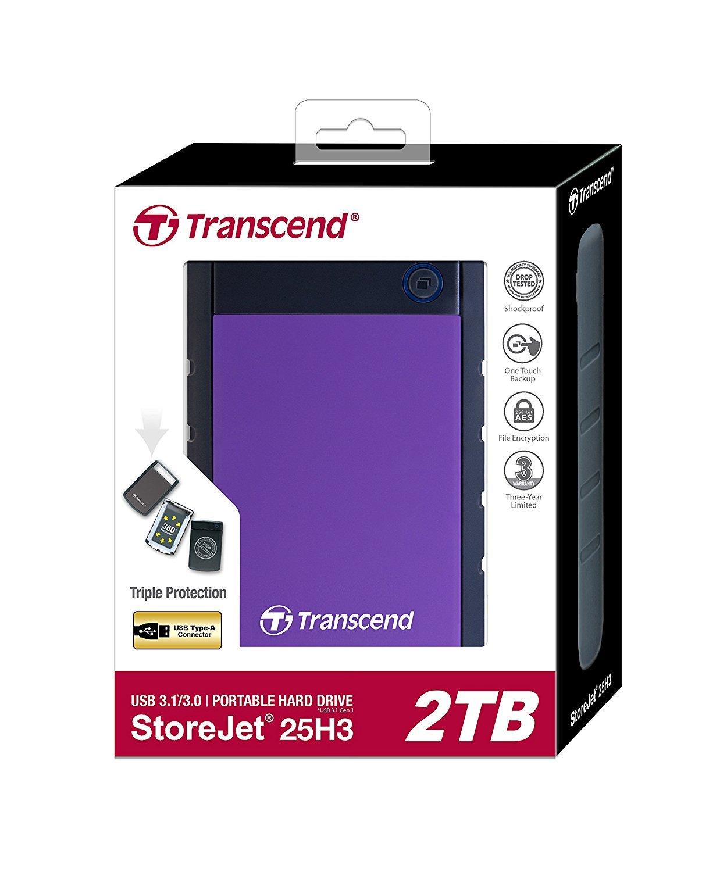 Transcend: StoreJet 25H3 2TB External Hard Disk - Purple image