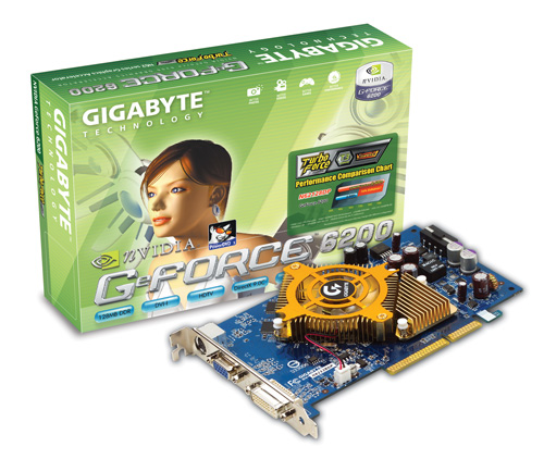 Gigabyte Graphics Card NVIDIA GeForce 6200 + HSI 128M AGP image