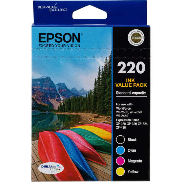 Epson: DURABrite Ultra 220 Ink Cartridge Pack