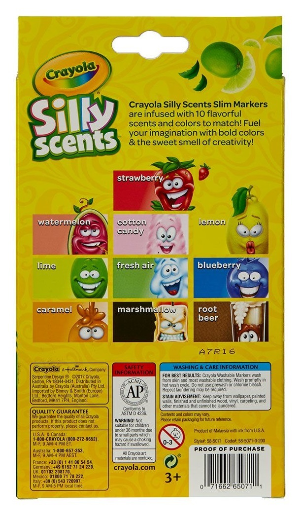 Crayola: Silly Scents - Slim Markers (10-Pack) image