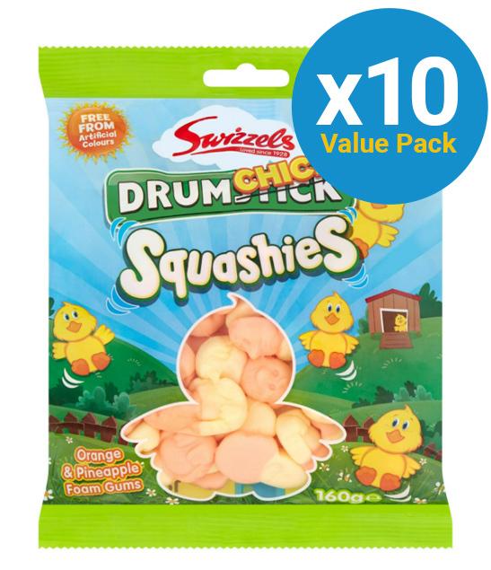 Swizzels: Drumchick Squashies 160g (10 Pack)