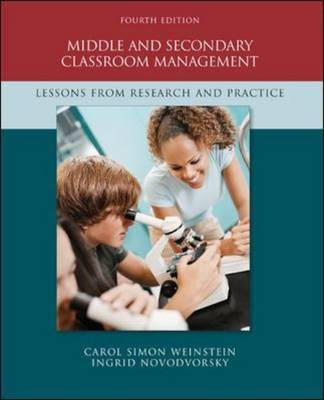 Middle and Secondary Classroom Management: Lessons from Research and Practice by Carol Simon Weinstein image