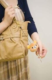 Rilakkuma Bag Charm with Retractable Reel (White) image