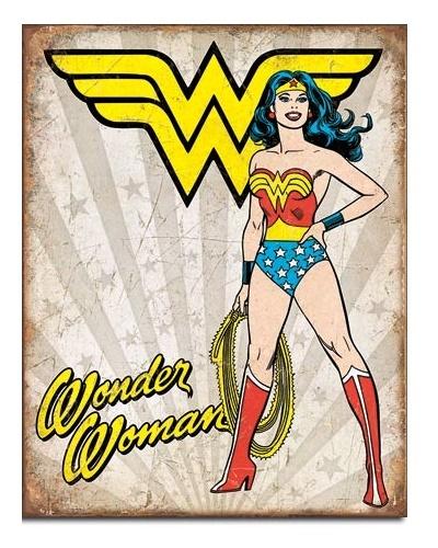 DC Comics: Wonder Woman Heroic - Retro Tin Sign