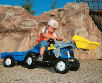 Rolly Kid - New Holland T7040 with Trailer and Front Loader image