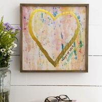 Natural Life: Art Bungalow - Heart Of Gold (30x30cm)