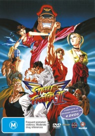 Street Fighter II V - The Complete Series (4 Disc Box Set) on DVD image