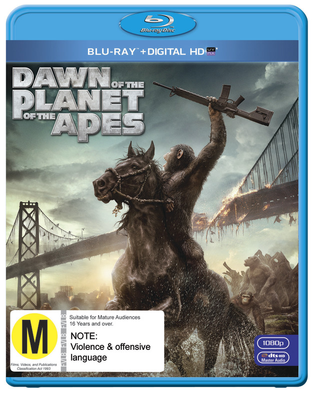 Dawn of the Planet of the Apes on Blu-ray