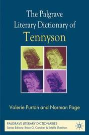The Palgrave Literary Dictionary of Tennyson by Valerie Purton image