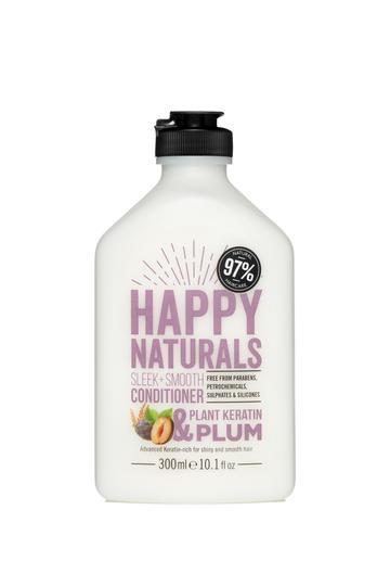 Happy Naturals: Sleek + Smooth Conditioner - Keratin & Plum (300ml)