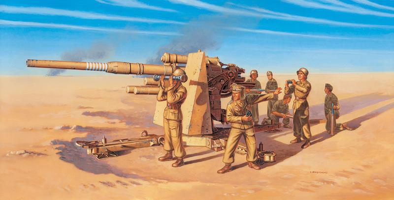 Italeri 1/72 8.8 cm. FLAK 37 AA Gun - Scale Model image