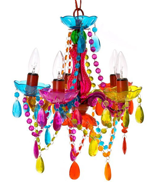 Leitmotiv Gypsy Chandelier Ceiling Light Small Multi Colour