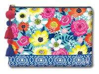 Lady Jayne Glam Cosmetic Bag - Tea Floral (Large)