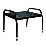 Footrest Large 300mm High Grey - black Frame
