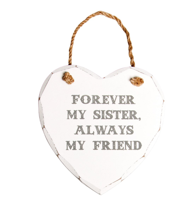 Sass & Belle: Forever My Sister Heart Plaque