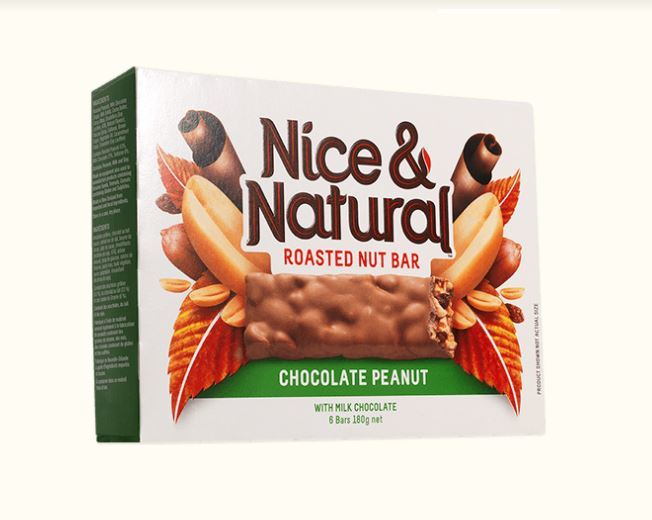 Nice & Natural Roasted Nut Bar - Chocolate Peanut (180g) image