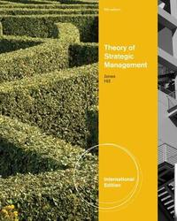 Theory of Strategic Management, International Edition by Charles W.L. Hill image
