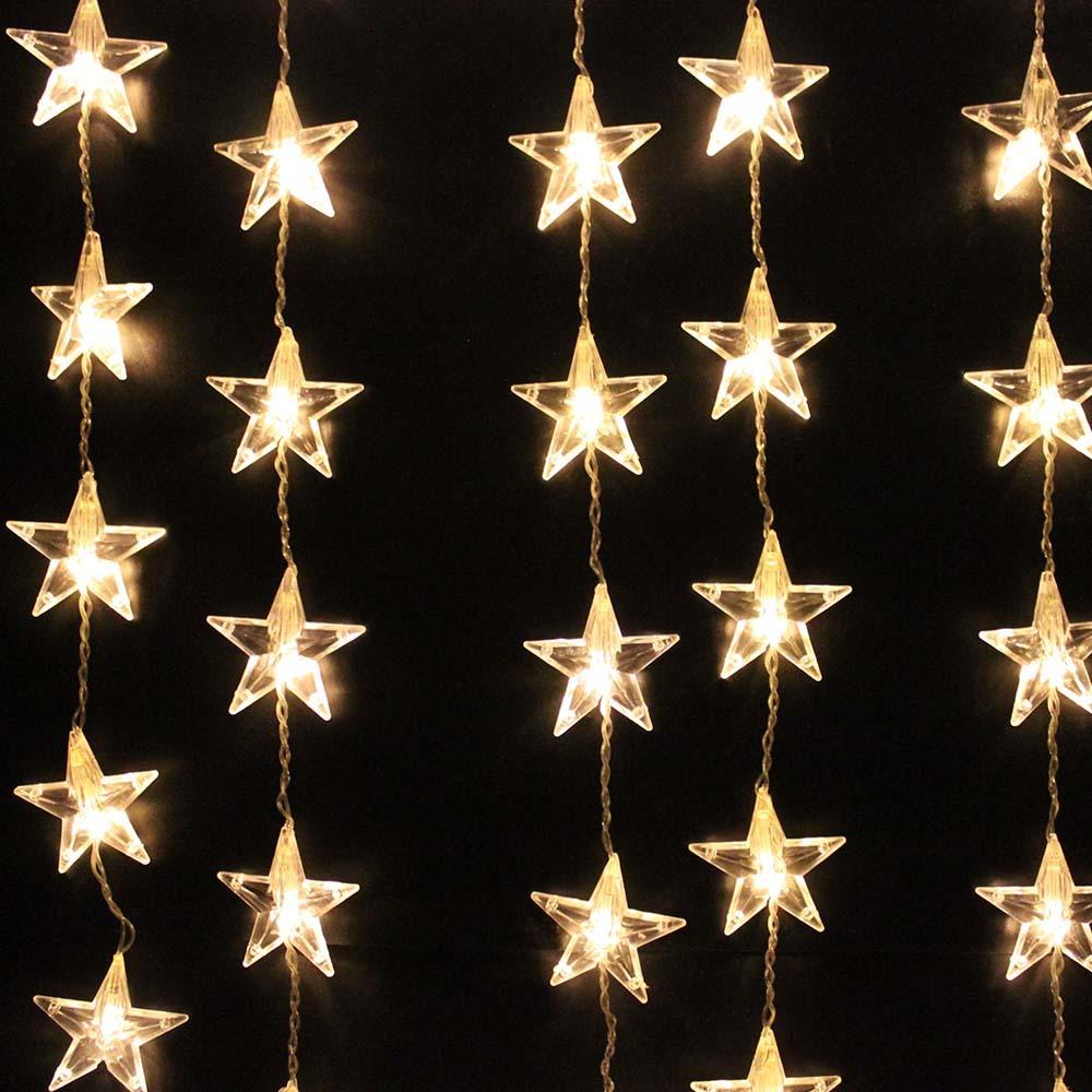54 LED Star Curtain Lights - Warm White image