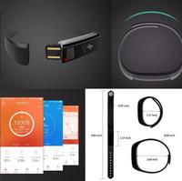 Smart Fitness Tracker Bands w/ Heart Rate Monitor - Black image
