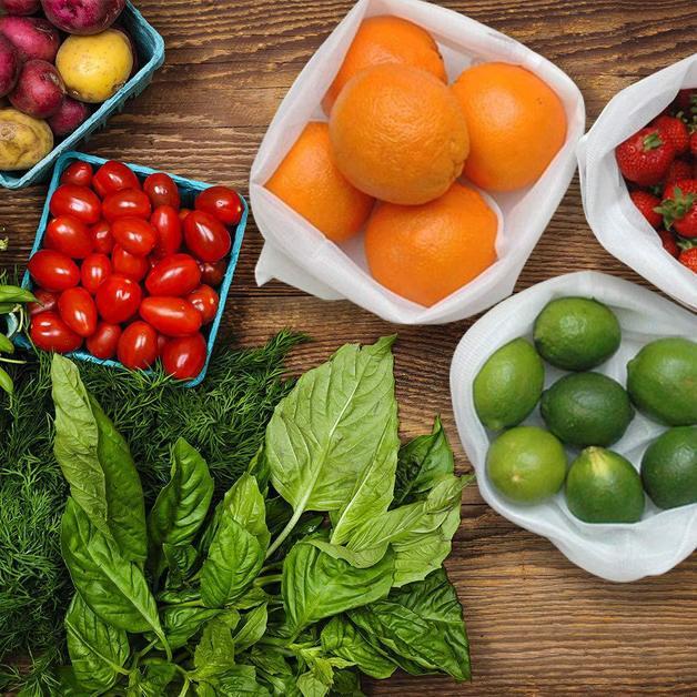 Ape Basics: Set of 9 Reusable Mesh Produce & Wash Bags