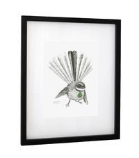 Framed Art Print - 'Freya Fantail'