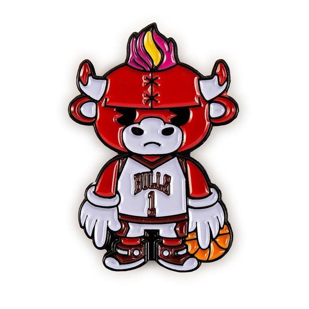 NBA: Chicago Bulls - Benny Mascot Enamel Pin