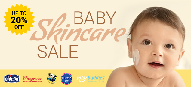 Baby Skin Care Sale - Up to 20% off