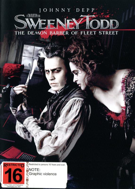 Sweeney Todd - The Demon Barber Of Fleet Street on DVD