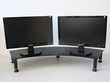 Fluteline Dual Monitor Stand Metal - Black