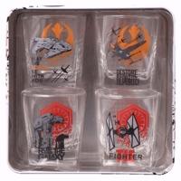 Star Wars Short Glasses In Tin Box (Set of 4)