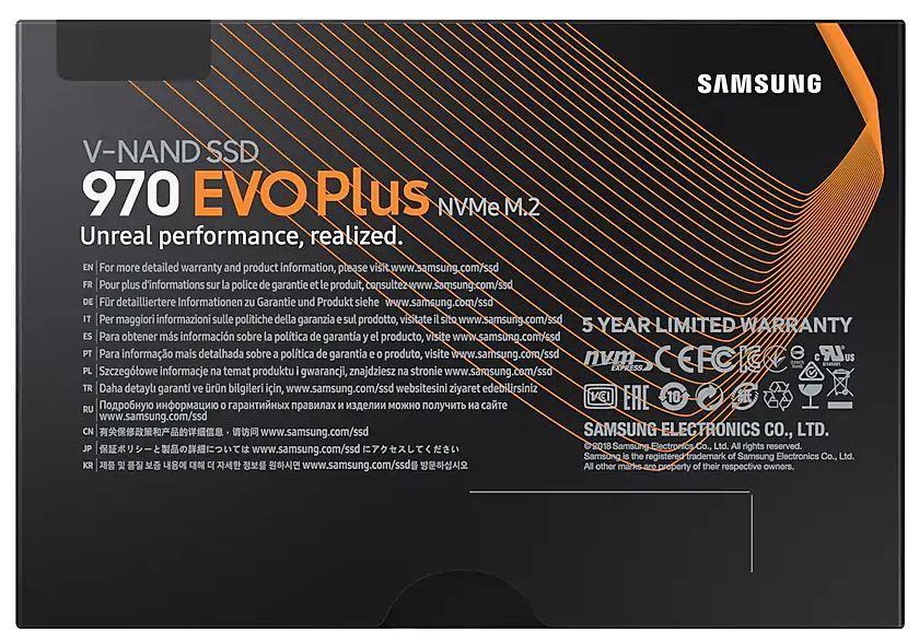 250GB Samsung 970 EVO Plus NVMe M.2 SSD image