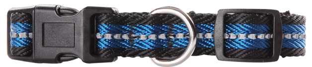 Pawise: Dog Reflective Collar - Blue/Large (40-65cm/25mm)