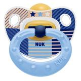NUK: Classic Happy Kids Latex Soothers - 0-6 Months (2 Pack) - Dark Blue
