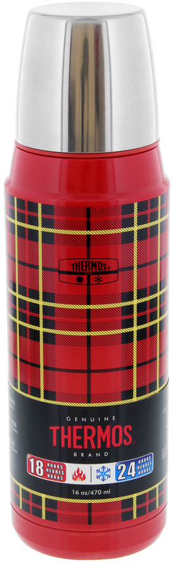 Thermos: Stainless Steel Vacuum Flask - Red Plaid (470ml)