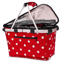 Shop & Go: Insulated Carry Basket - Cherry Dots