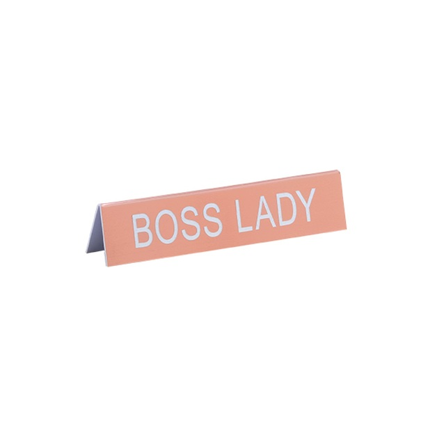 Desk Sign Medium - Boss Lady