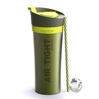 Asobu Fresh N Go Double Wall Shaker Tumbler - Lime (500ml)