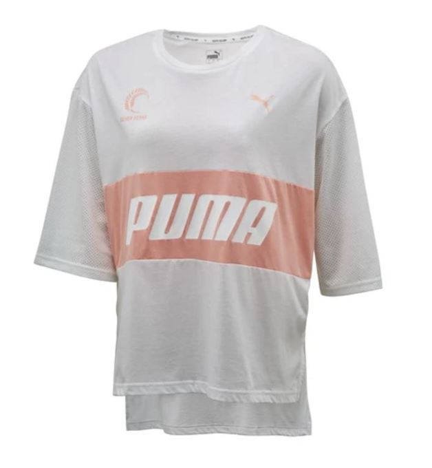 Puma: Silver Ferns Style T-Shirt: White/Peach (Large)