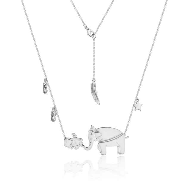 Couture Kingdom: Disney Dumbo and Mrs Jumbo Necklace - White Gold