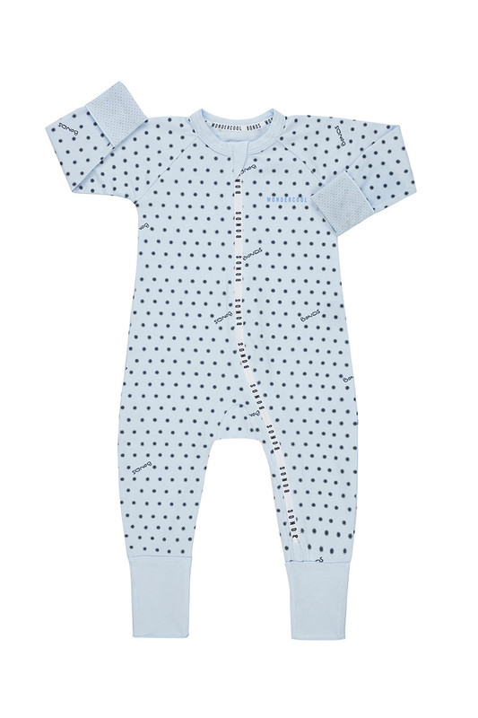 Bonds: Zip Wondercool Long Sleeve - Sunshine Baby Little Blue (6-12 Months)