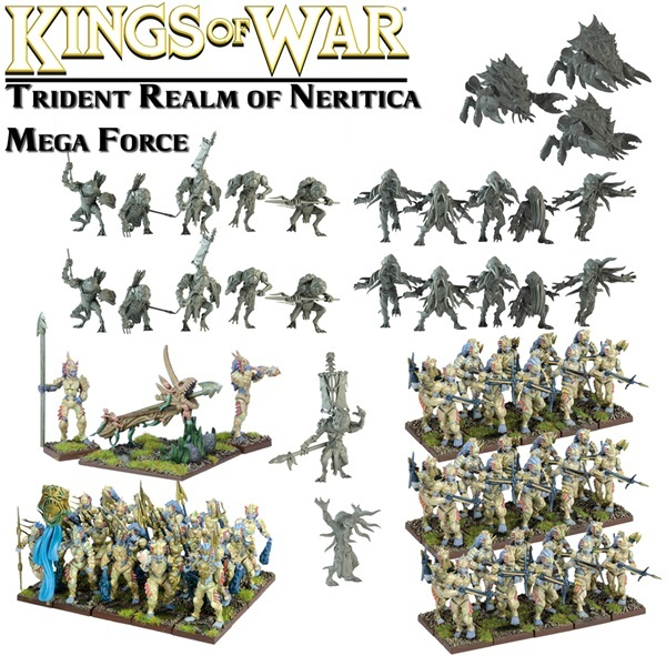Kings of War Trident Realm of Neritica Mega Army