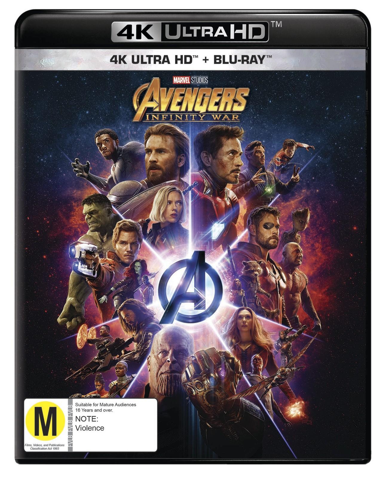 Avengers: Infinity War on UHD Blu-ray image