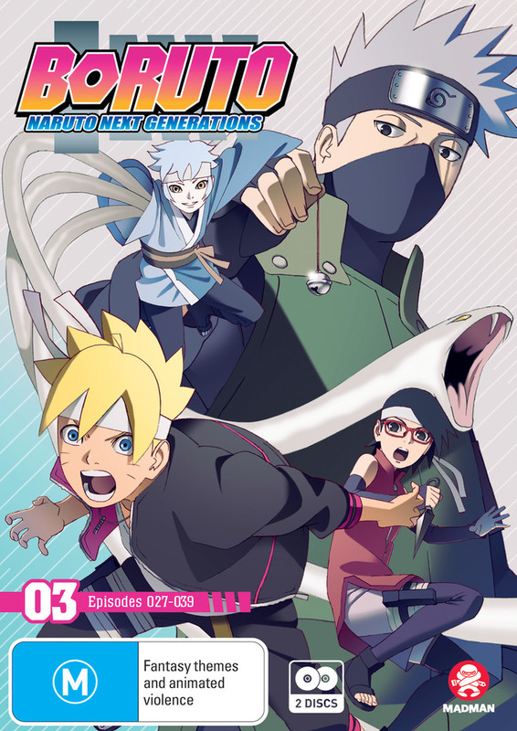 Boruto: Naruto Next Generations - Part 3 (Eps 27-39) on DVD