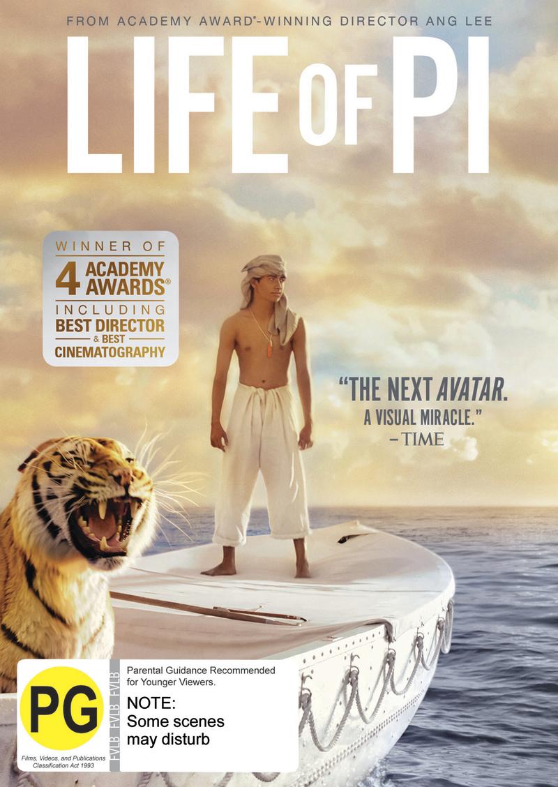 Life of Pi on DVD image